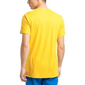 Haglöfs Träd Print Tee Men pumpkin yellow
